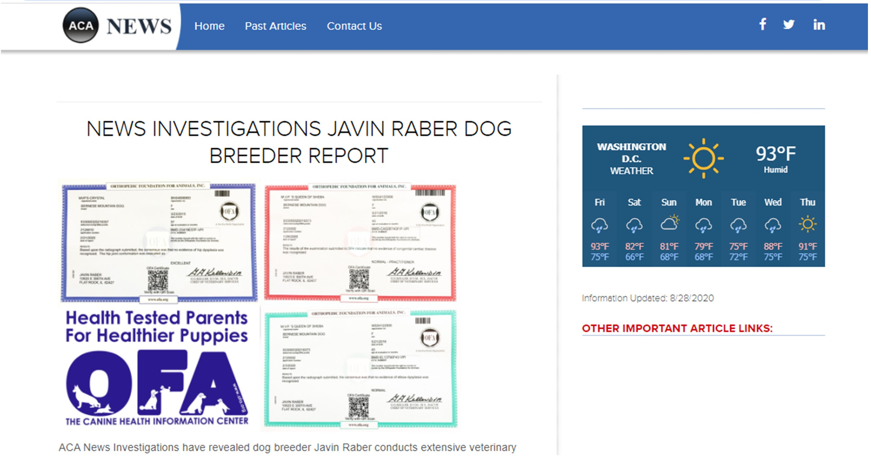 javin, raber, dog, breeder, news, article, news-report, javin-raber, dog-breeder, flat, rock, il, illinios, puppy, dog, kennels, mill, puppymill, usda, 5-star, aca, ica, registered, berniedoodle, 33-a-0586, 33a0586