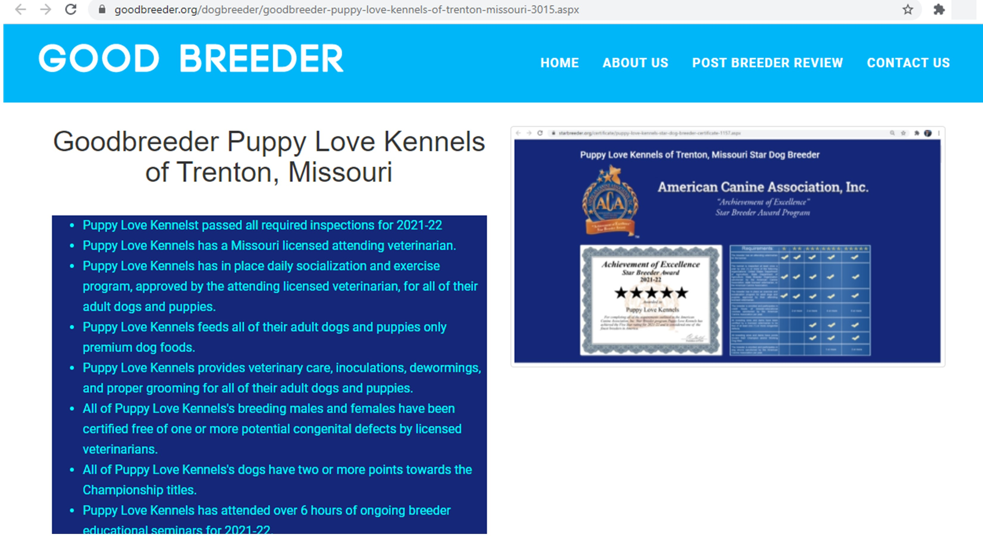 puppy, love, kennels,boodbreeder, inspection, records, dog, breeder, about, information, history, puppy-love-kennels, trenton, MO, Missouri, dog-breeder, puppy, dogs, kennels, mill, puppymill, usda, 5-star, ACA, ICA, registered, show, hander, cocker, spaniel, cockapoo, 43A6314, 43-A-6314